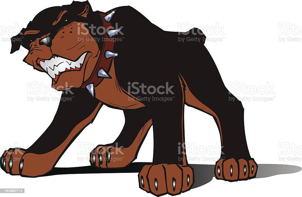 Rottweiller dog royalty-free rottweiller dog stock vector art & more images of anger