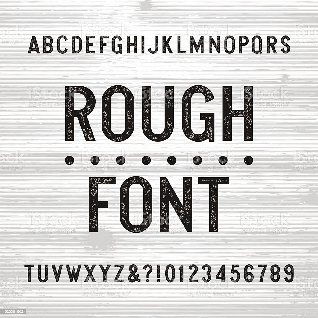 Scratched Type Letters Royalty Free Rough Alphabet Font