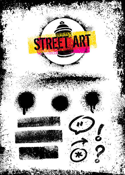 illustrations, cliparts, dessins animés et icônes de rough grunge urban street art graffiti vector design elements set - street art