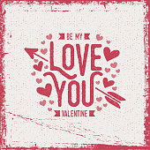 istock Rough love Valentine's Day greeting card - white background 1297543655