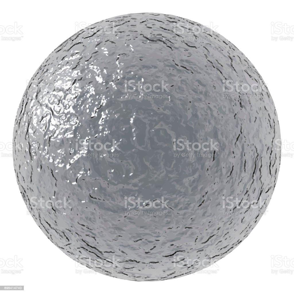 rough metallic ball royalty-free rough metallic ball stock illustration - download image now