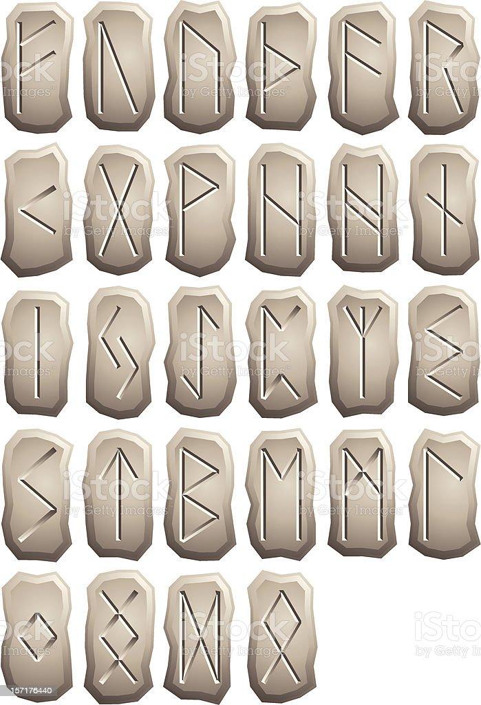 Rough Rune Stone vector art illustration