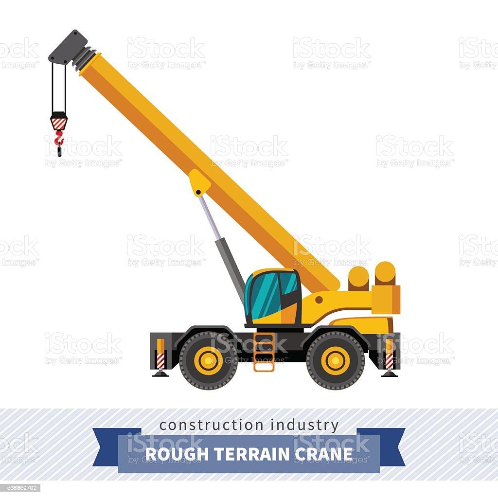 Rough terrain crane vector : Rough terrain crane stock vector art more images of