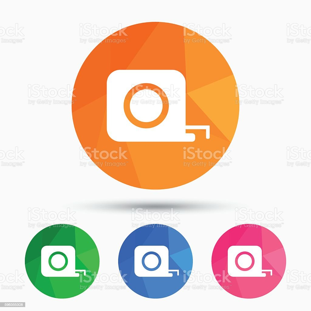 Roulette construction icon. Tape measure symbol. royalty-free roulette construction icon tape measure symbol stock vector art & more images of authority