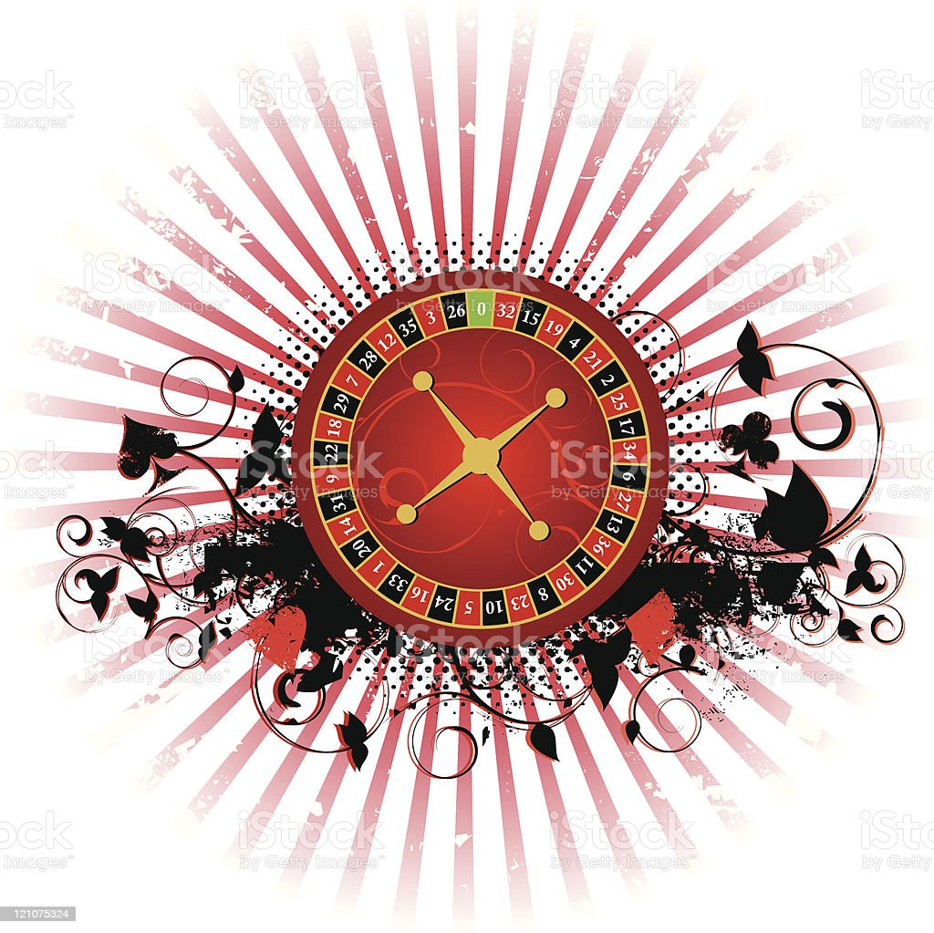 Roulette grunge background royalty-free stock vector art