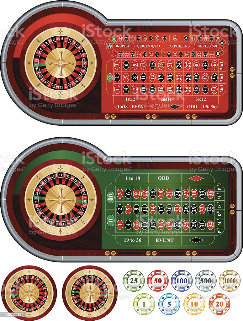 Roulette royalty-free stock vector art