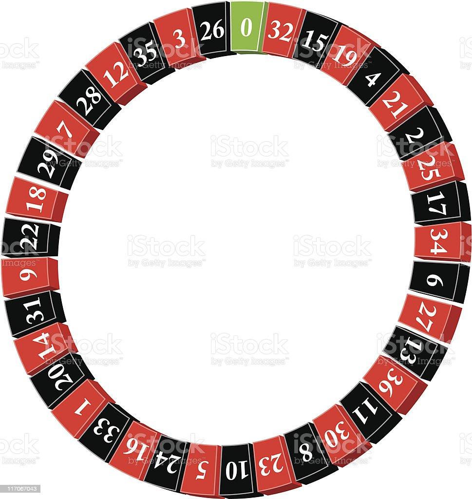 roulette wheel 3d royalty-free stock vector art