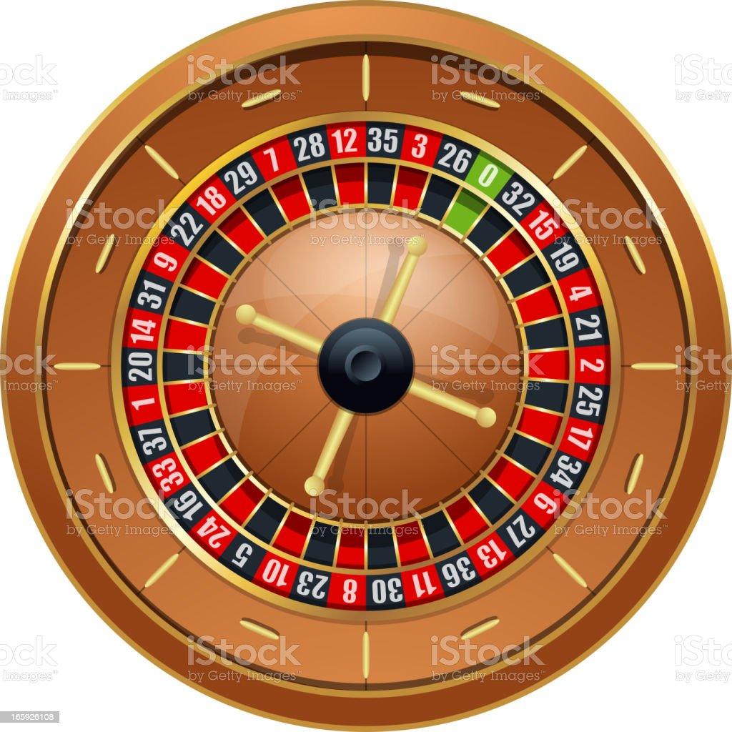 Roulette wheel royalty-free stock vector art