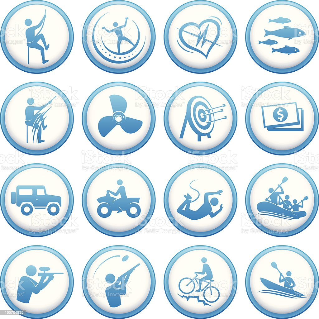 Round activity icons royalty-free stock vector art