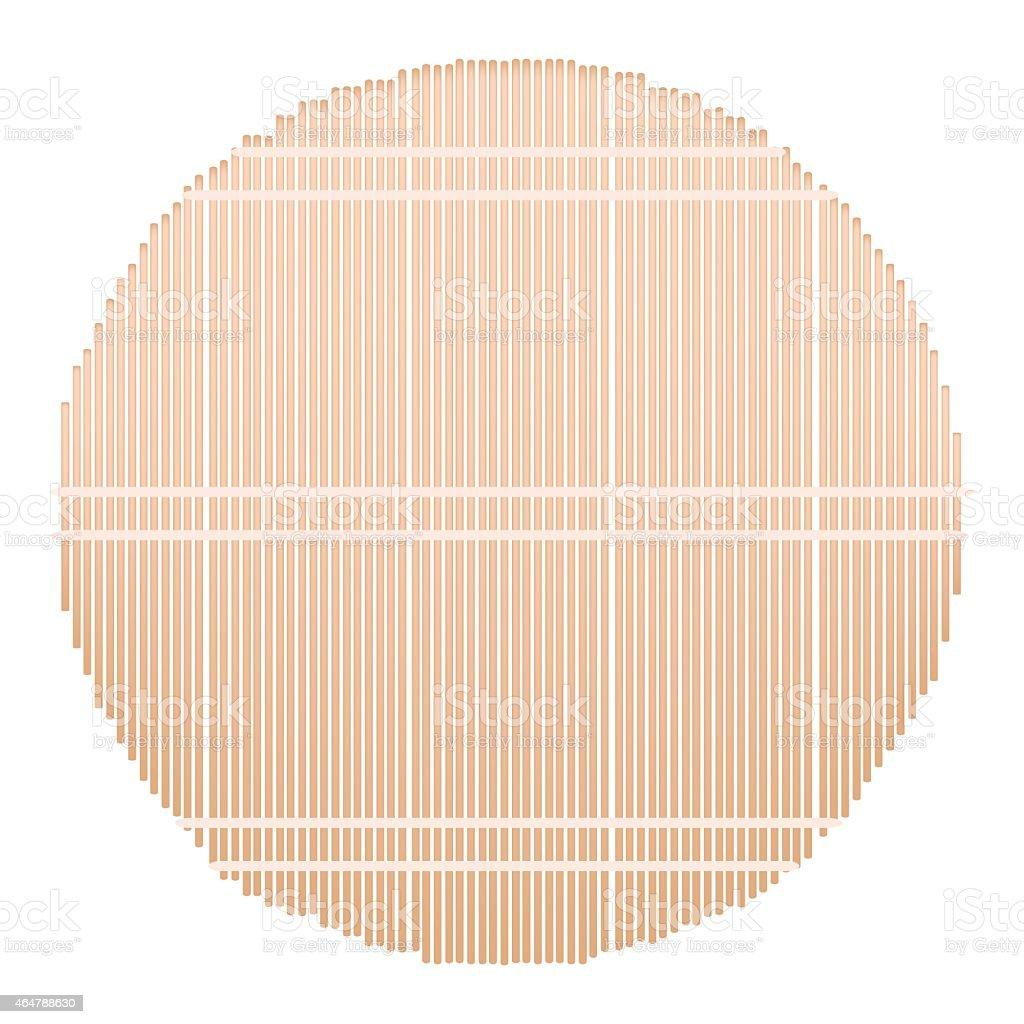 Runde Bambusmatte Auf Weissem Hintergrund Stock Vektor Art Und Mehr