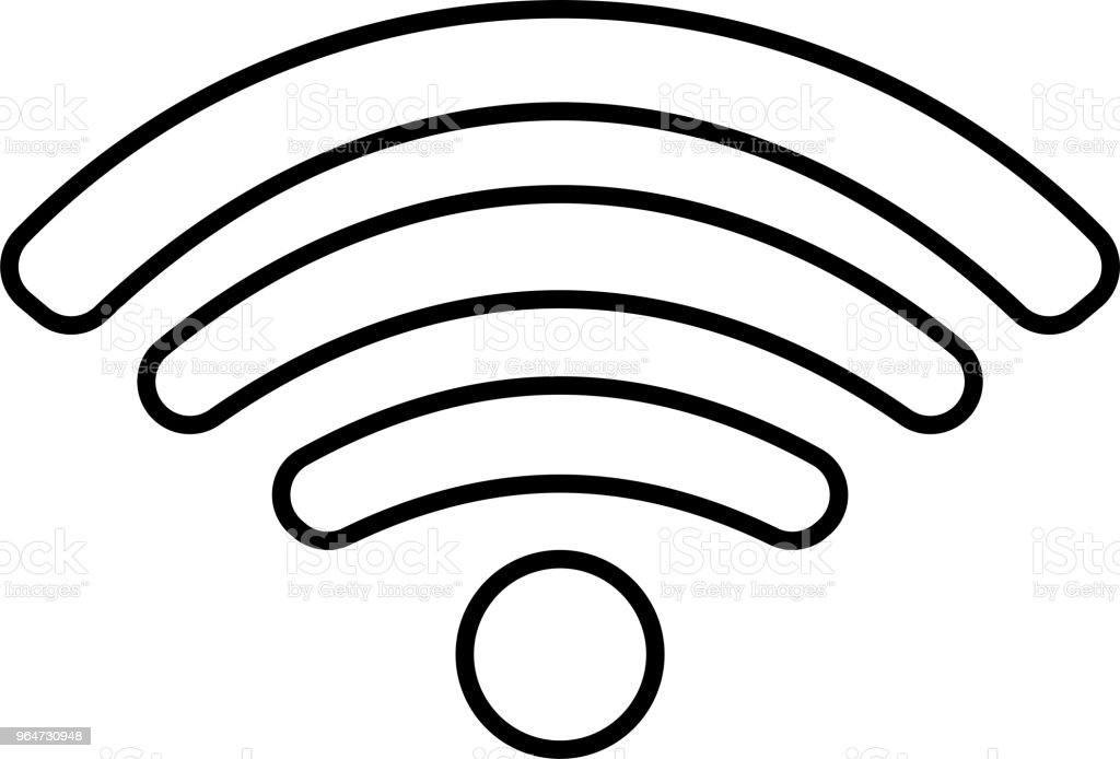 Round Black Signal icon of radio wave status 0 royalty-free round black signal icon of radio wave status 0 stock vector art & more images of antenna - aerial