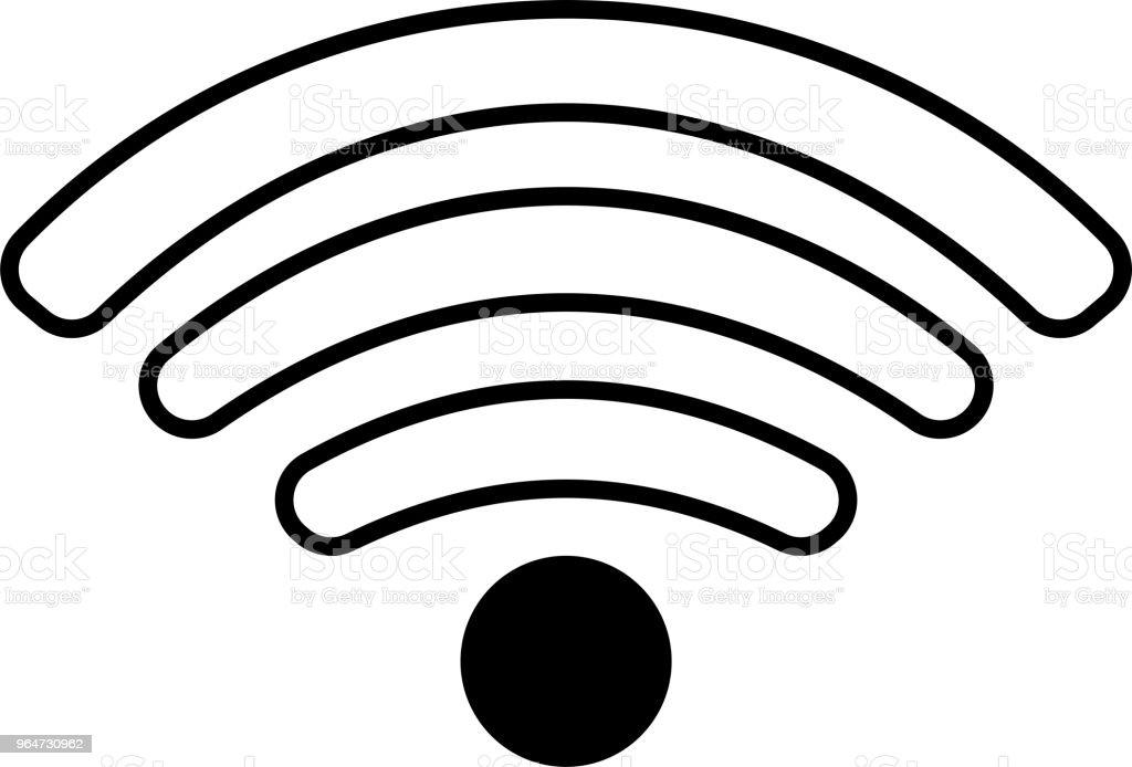 Round Black Signal icon of radio wave status 1 royalty-free round black signal icon of radio wave status 1 stock vector art & more images of antenna - aerial