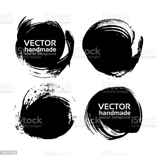 Round black textured abstract backgrounds painted by brush vector vector id884854466?b=1&k=6&m=884854466&s=612x612&h=hgh5nayukf0twaqkdoyu 9nnpbuzt4esogypth9bli8=