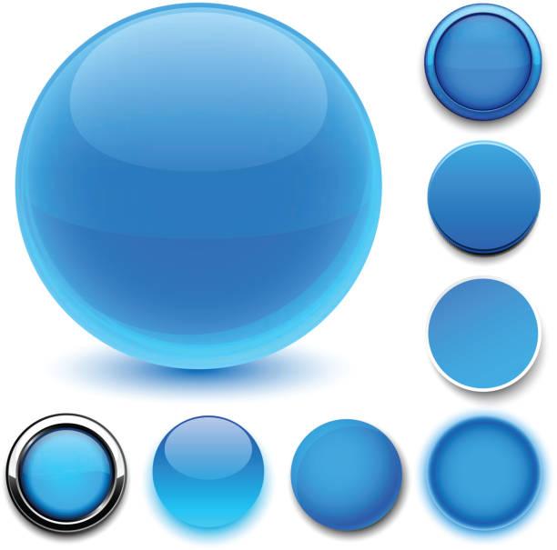 Runde blue Symbole. – Vektorgrafik