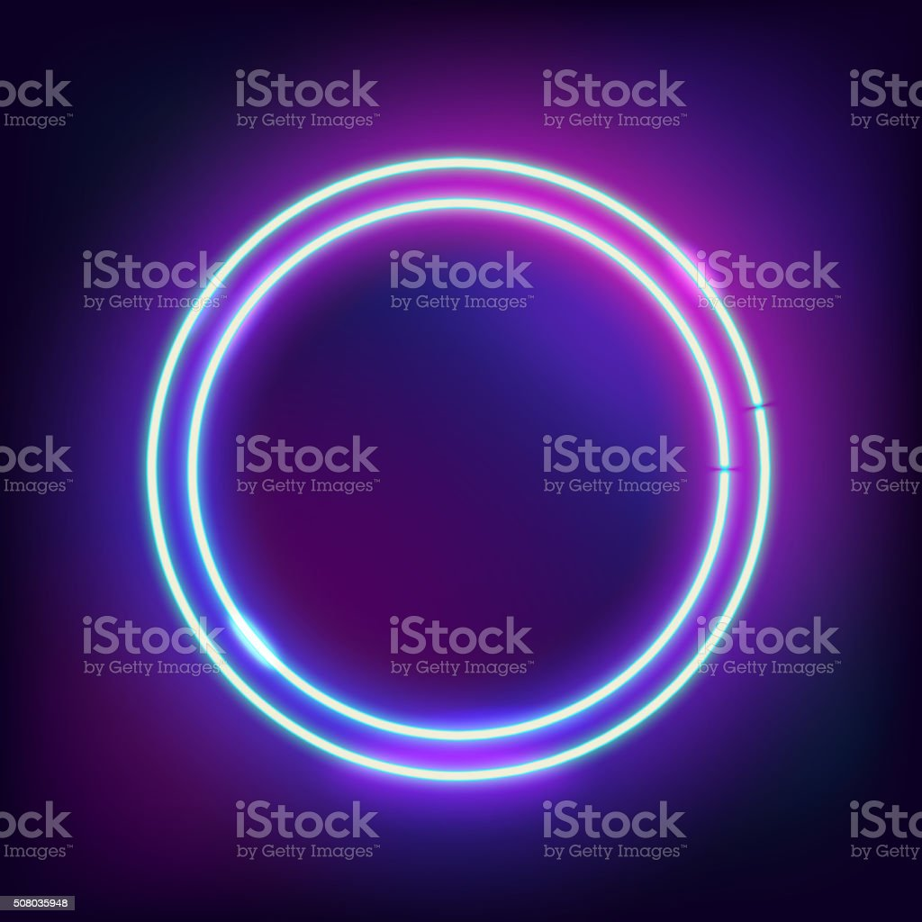 round Border with Light Effects vector art illustration