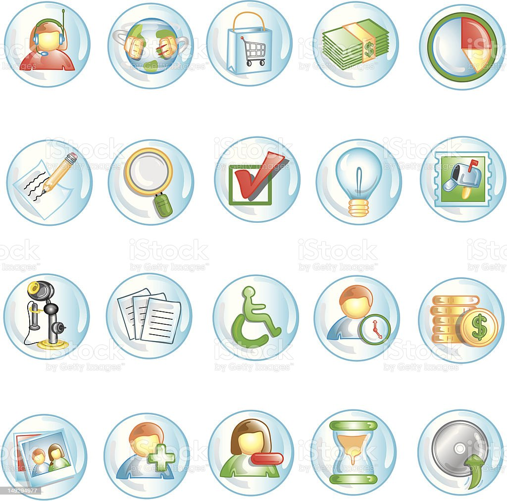 Round button icons royalty-free round button icons stock vector art & more images of box - container