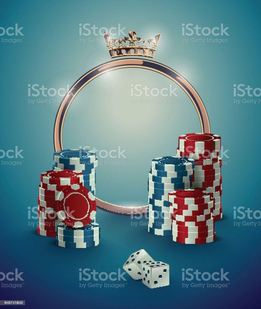 Ilustración de Marco De Ruleta Golden Casino Redondo Con Corona Pila ...