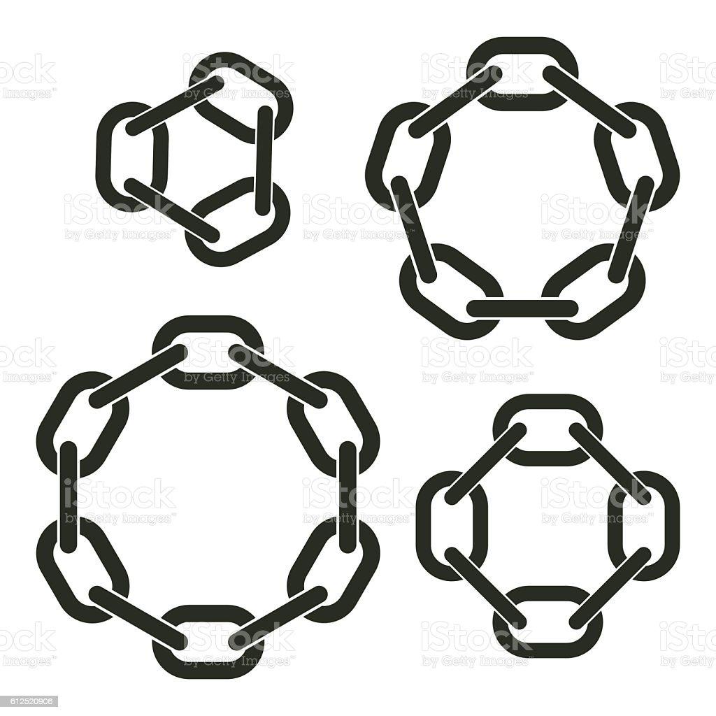Round chains vector art illustration