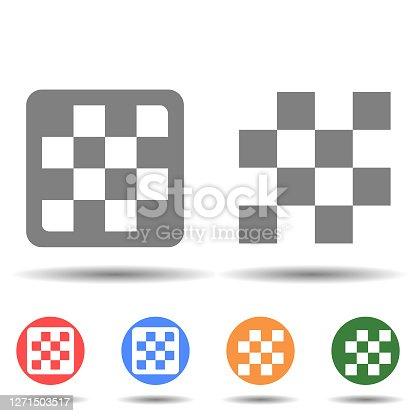istock Round chess board icon vector logo 1271503517
