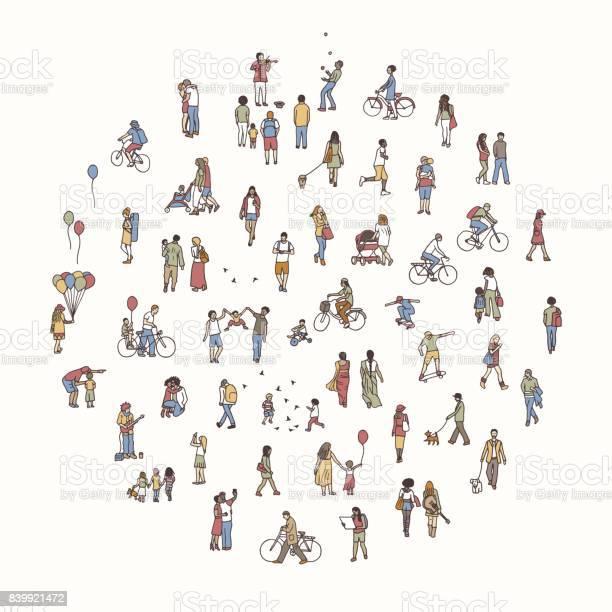 Round circle with tiny people vector id839921472?b=1&k=6&m=839921472&s=612x612&h=gt8hr0jhf0hkj3v6wodqdmknwnnigatesfbmllslski=