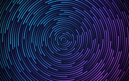 Round Circling Abstract Background