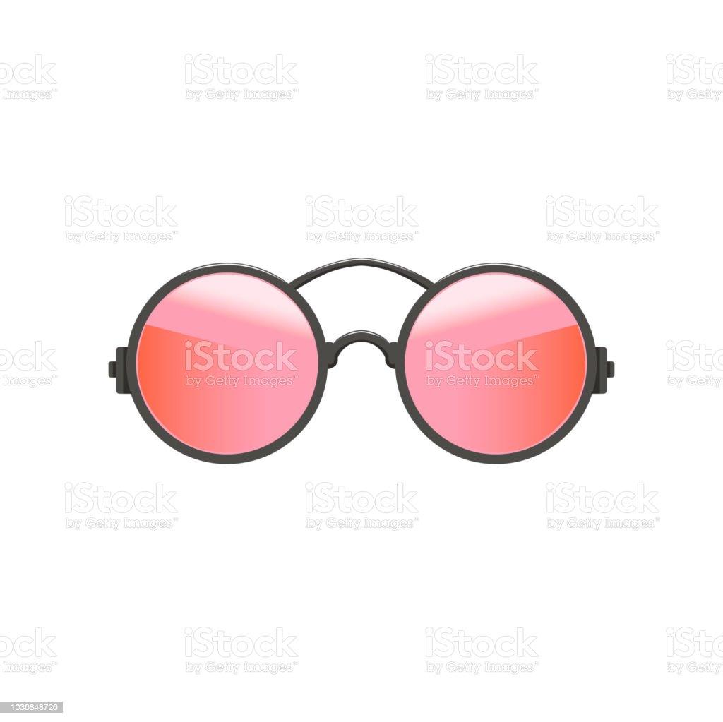 Hipster circular redonda óculos de sol com lentes vermelho-rosa e cinza  armação de metal 04e92bd27d
