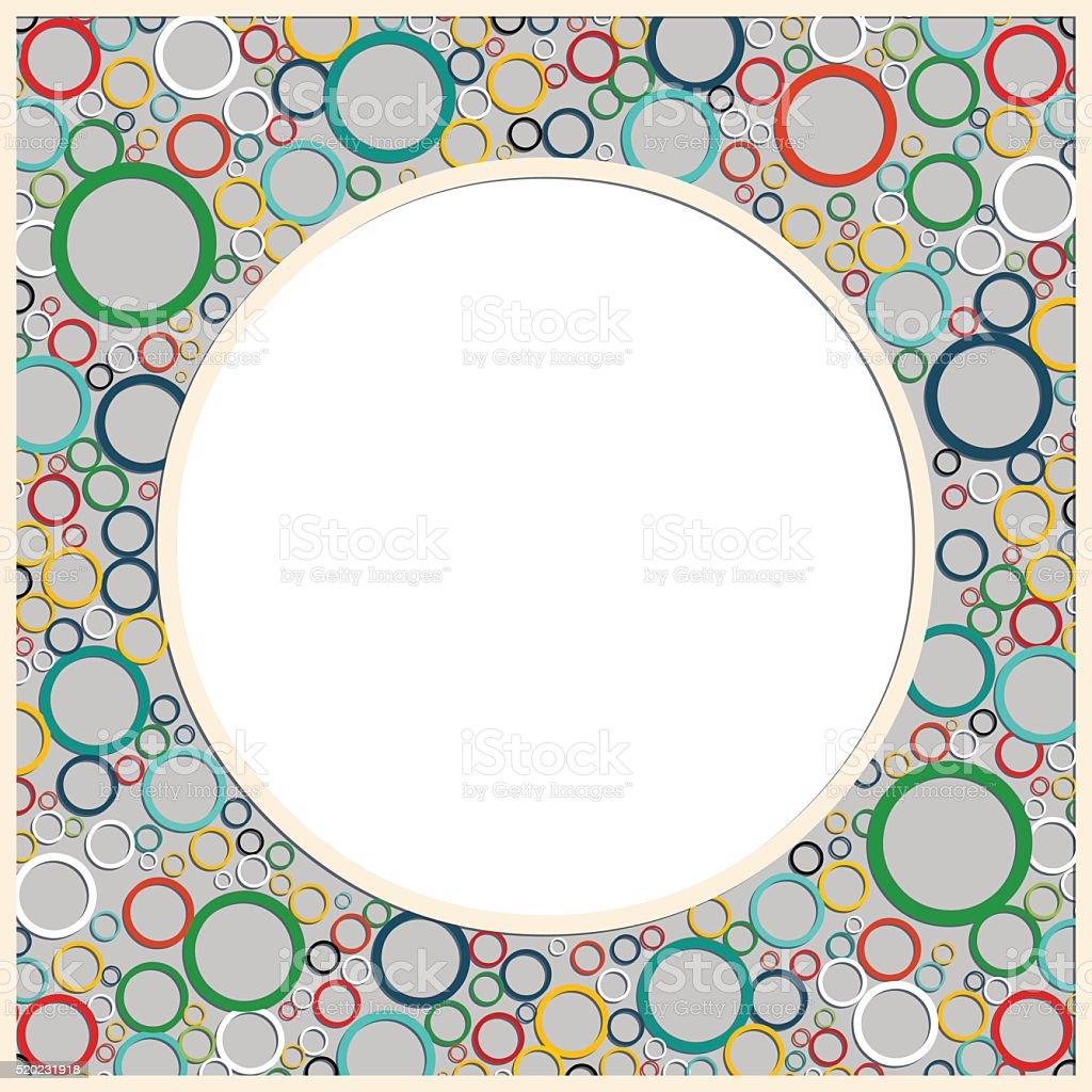 Farbe Runde Rahmen Mit Bunten Abstrakte Muster Stock Vektor Art und ...