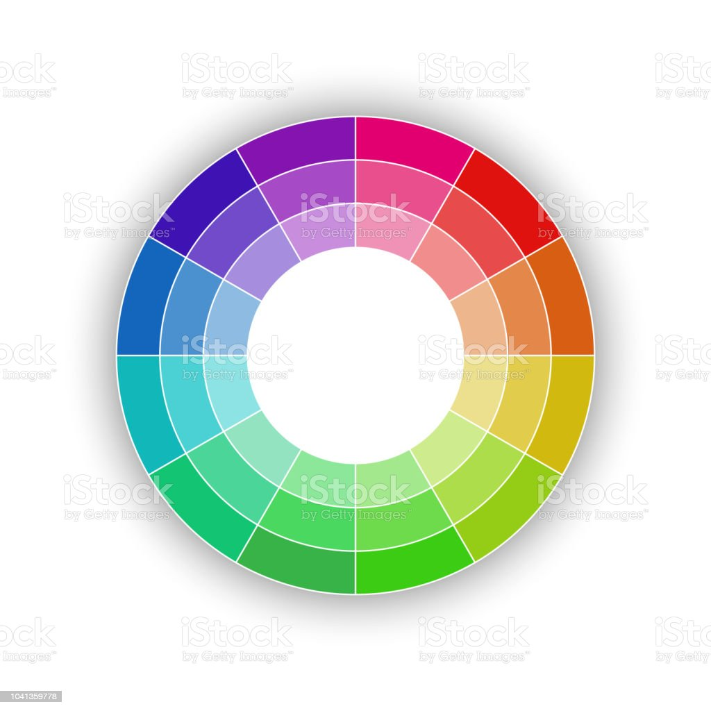 Round Color Palette Isolated On White Background Color Schemes And