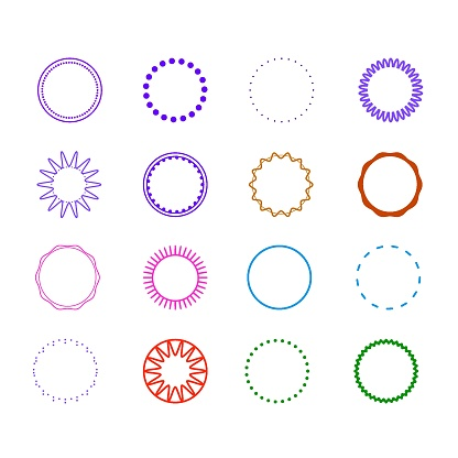 Round Decorative Border Frames for your design.Dotted circle concept