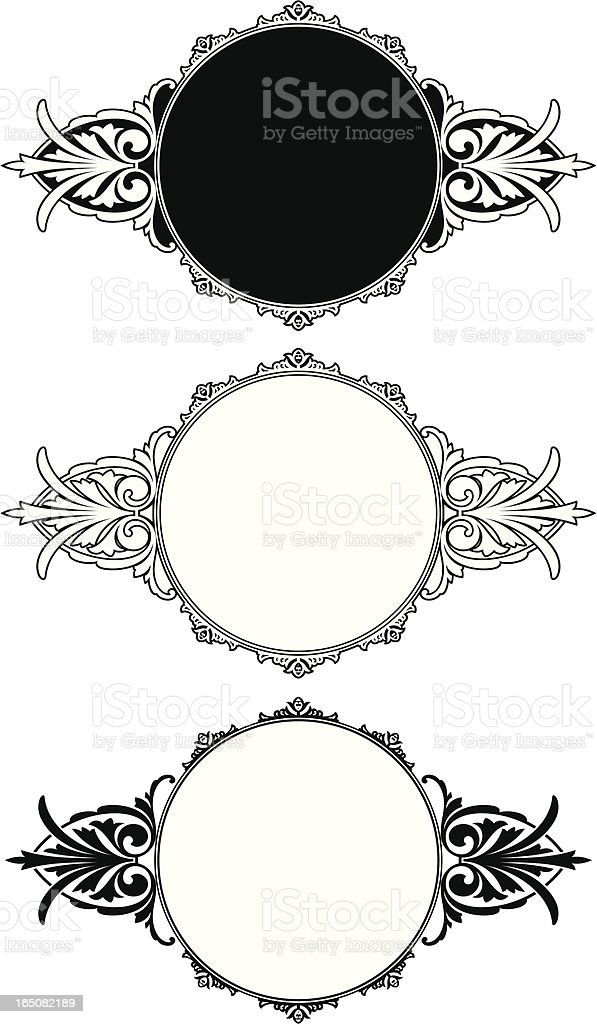Round Decorative Panel royalty-free round decorative panel stock vector art & more images of acrylic painting