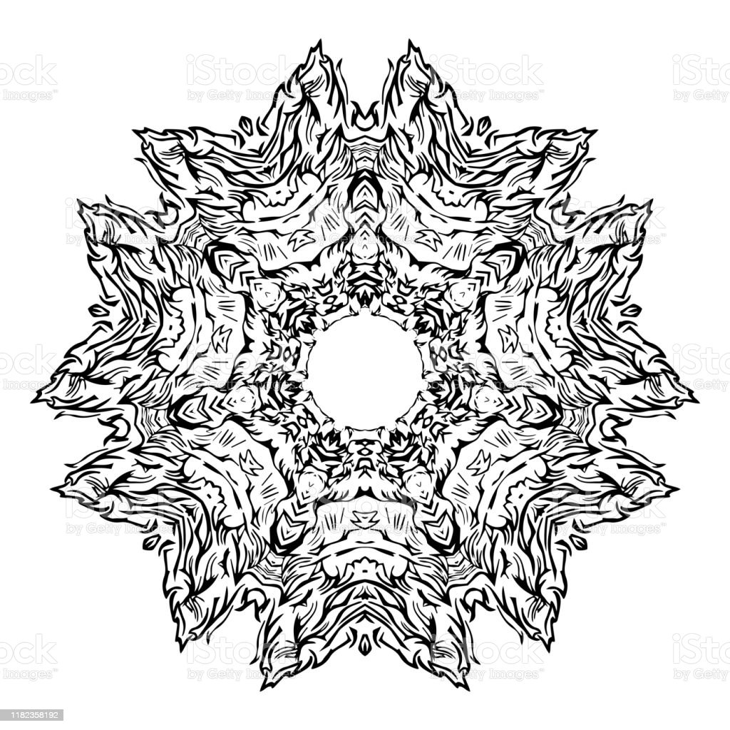 Element Rond Pour Livre De Coloriage Livre A Colorier Adulte Ou Page Un Mandala Zen Relaxant Vecteur Illustration De Vecteur Vecteurs Libres De Droits Et Plus D Images Vectorielles De Abstrait Istock
