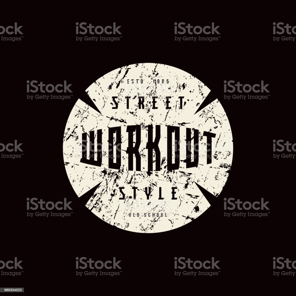 Round emblem of workout royalty-free round emblem of workout stock vector art & more images of athlete