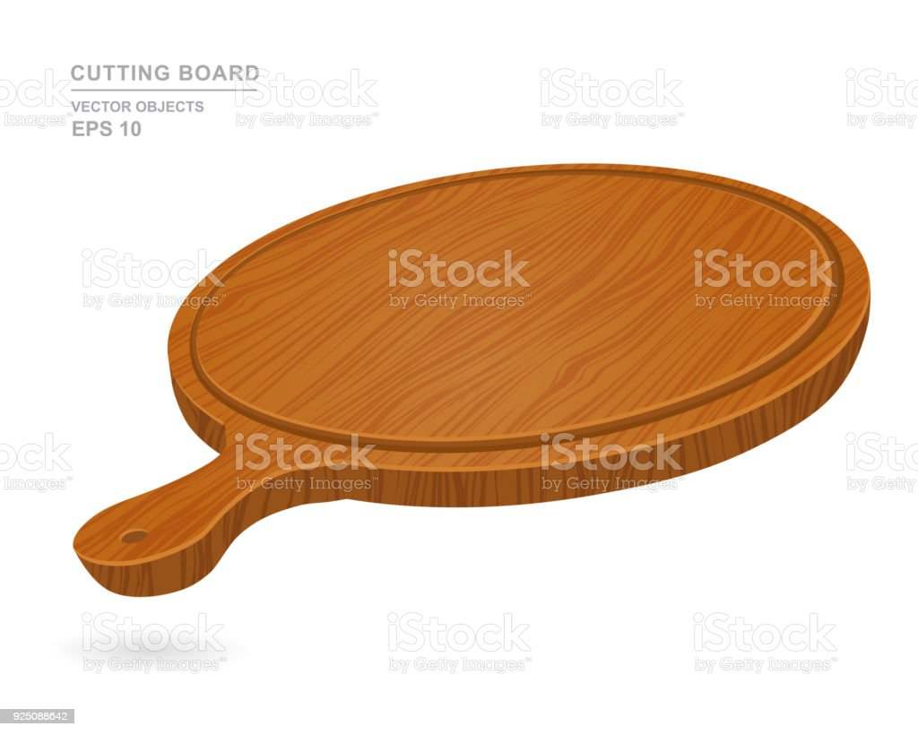 Planche À Découper Humoristique planche À découper vide ronde pour pizza isolé sur fond