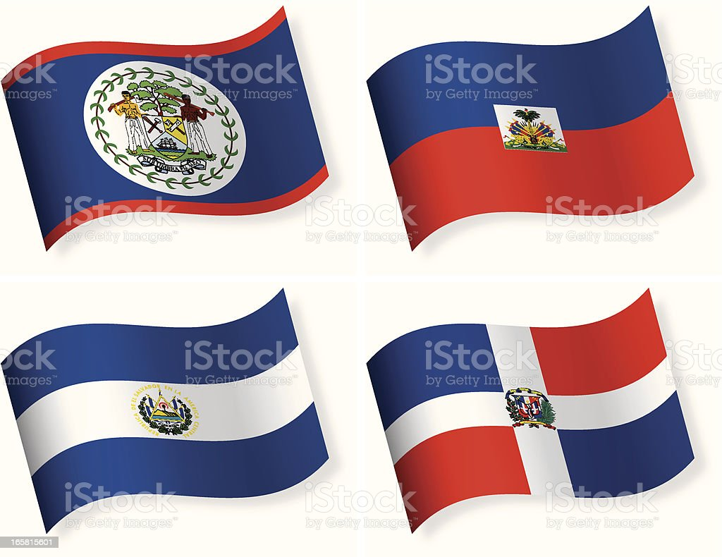 Round Flag Icon Collection - Central America royalty-free round flag icon collection central america stock vector art & more images of belize