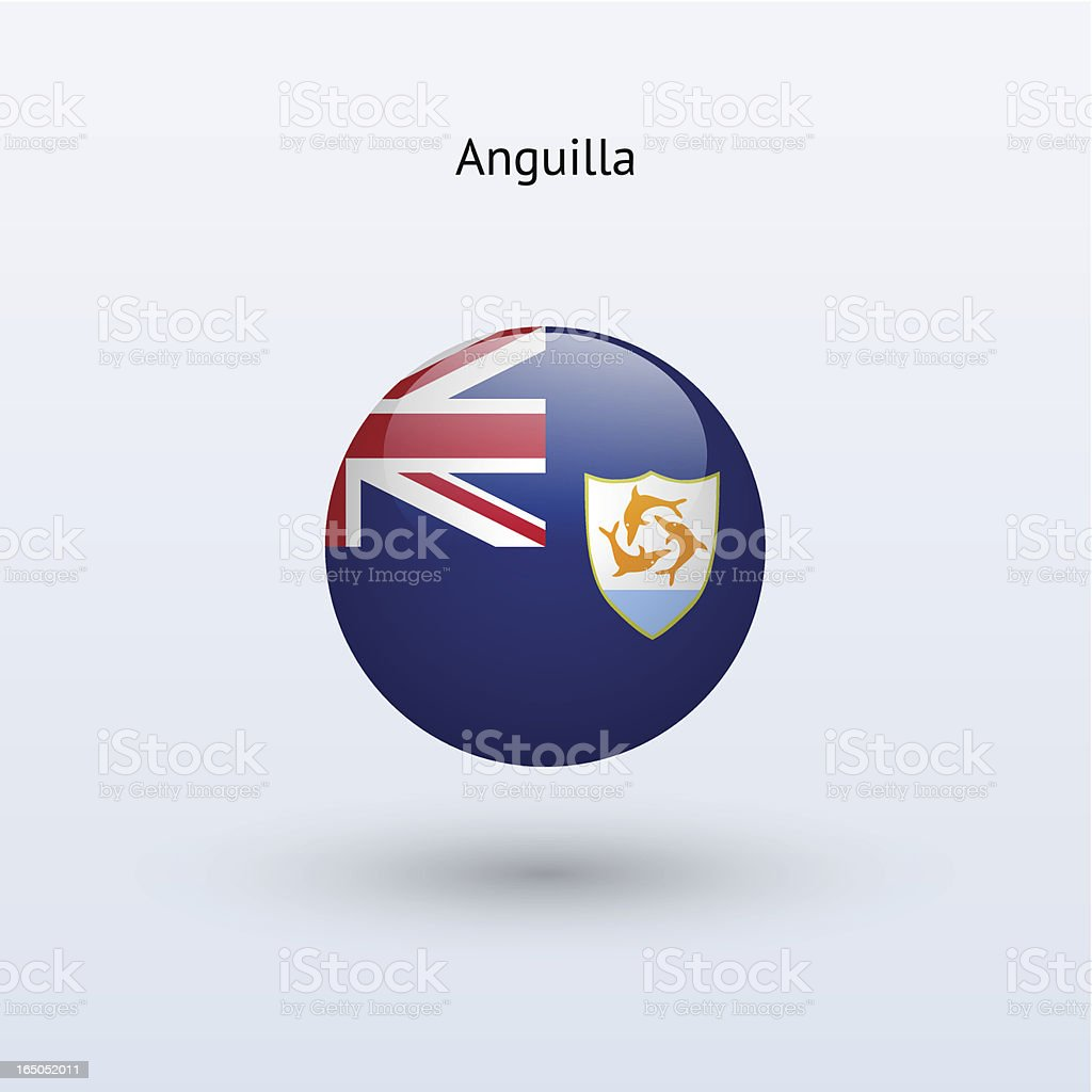 Round flag of Anguilla royalty-free stock vector art