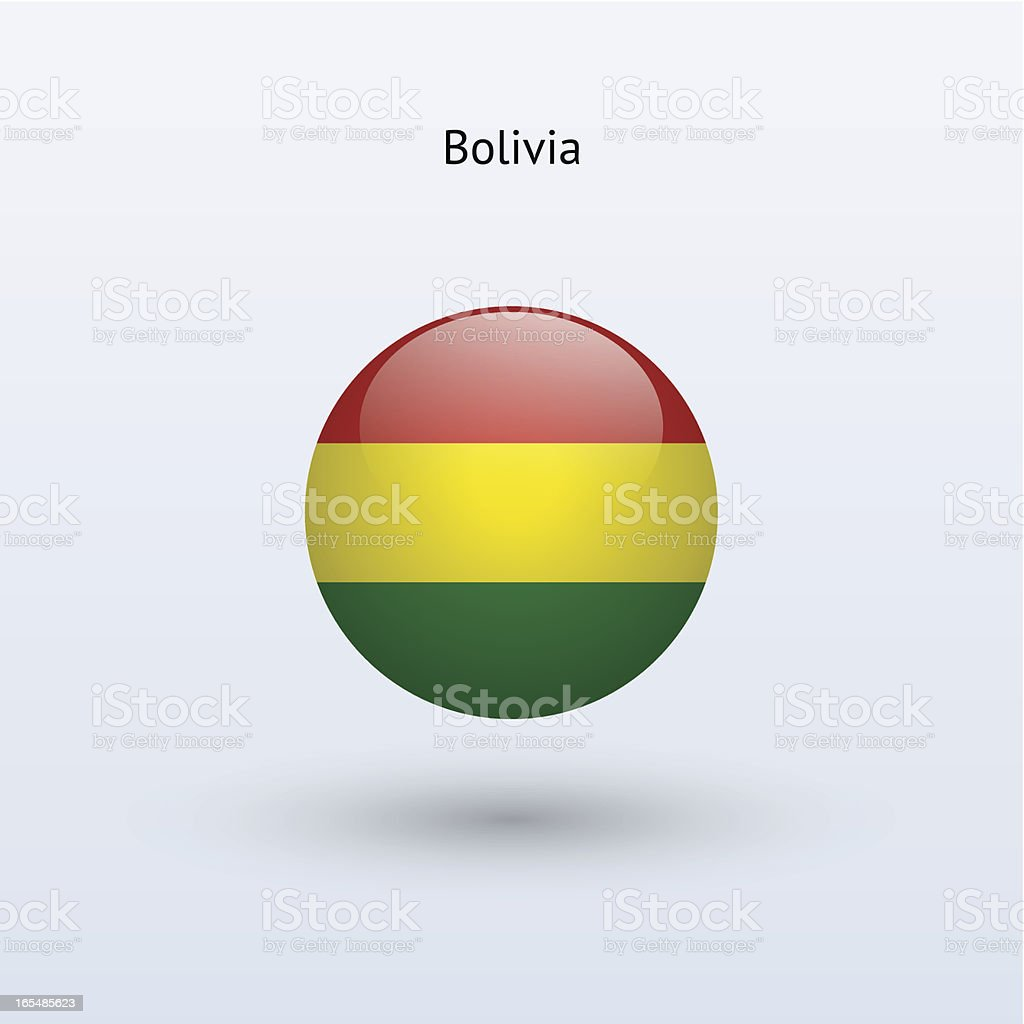 Round flag of Bolivia royalty-free round flag of bolivia stock vector art & more images of bolivia