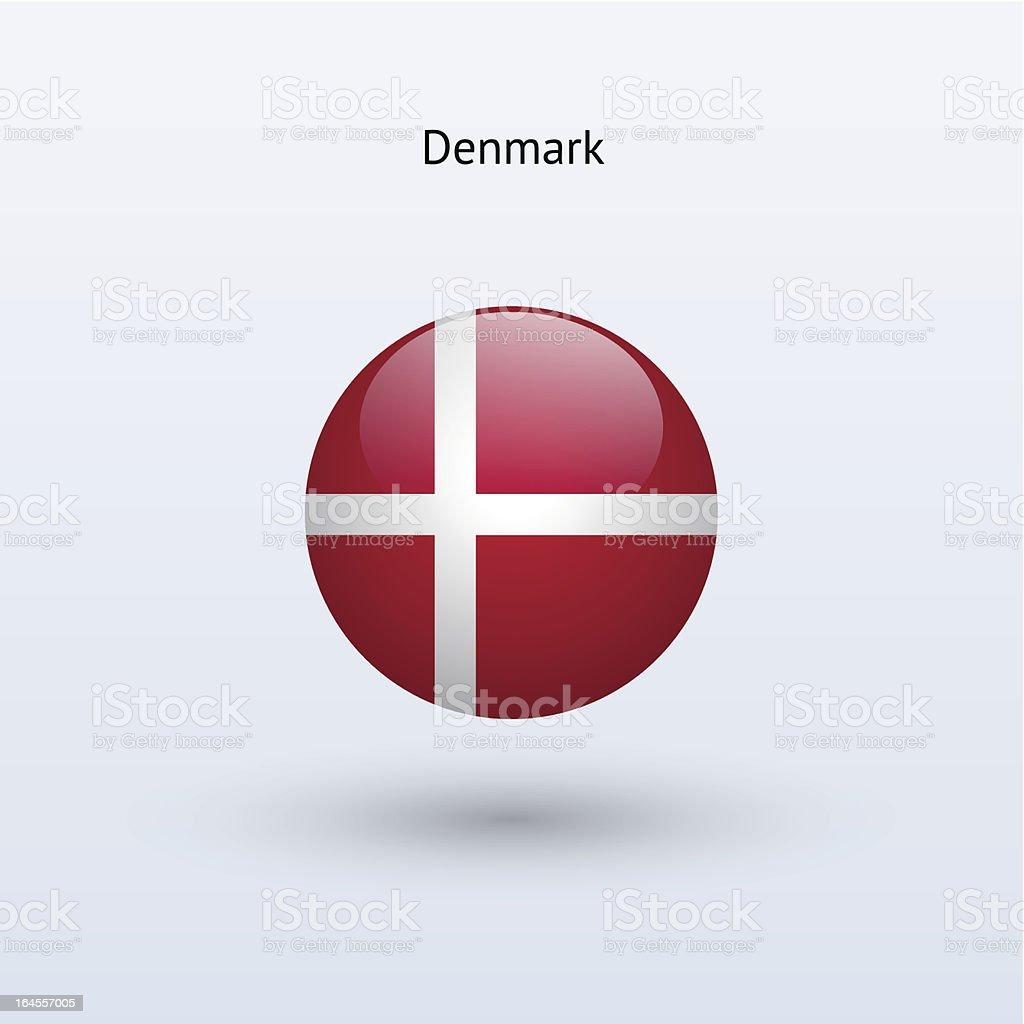 Round flag of Denmark royalty-free stock vector art