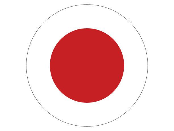 runde flagge von japan - flagge japan stock-grafiken, -clipart, -cartoons und -symbole