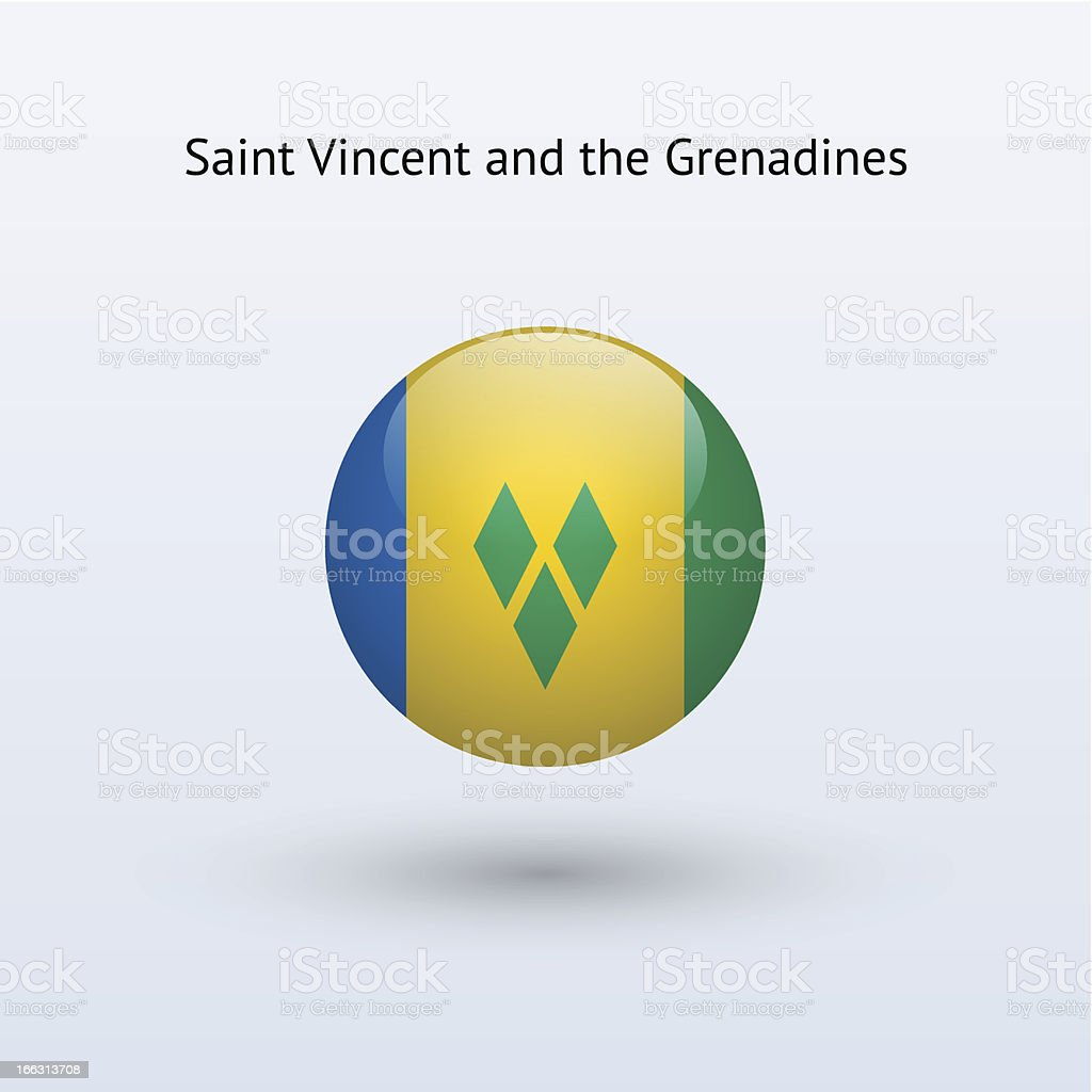 Round flag of Saint Vincent and the Grenadines royalty-free round flag of saint vincent and the grenadines stock vector art & more images of circle