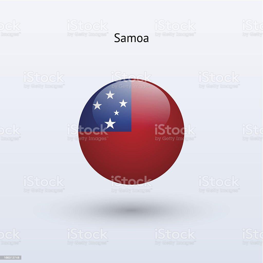 Round flag of Samoa royalty-free stock vector art