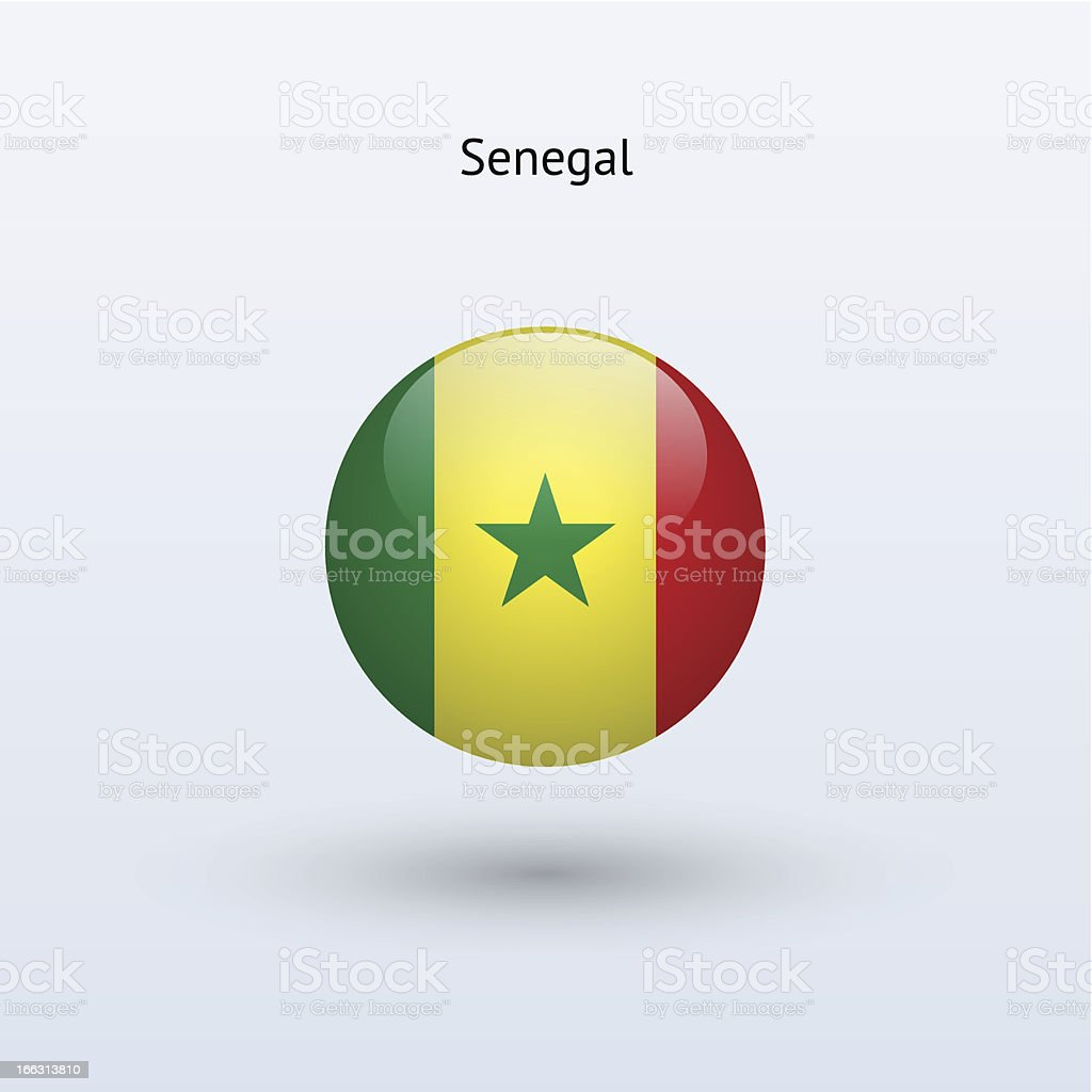 Round flag of Senegal royalty-free stock vector art