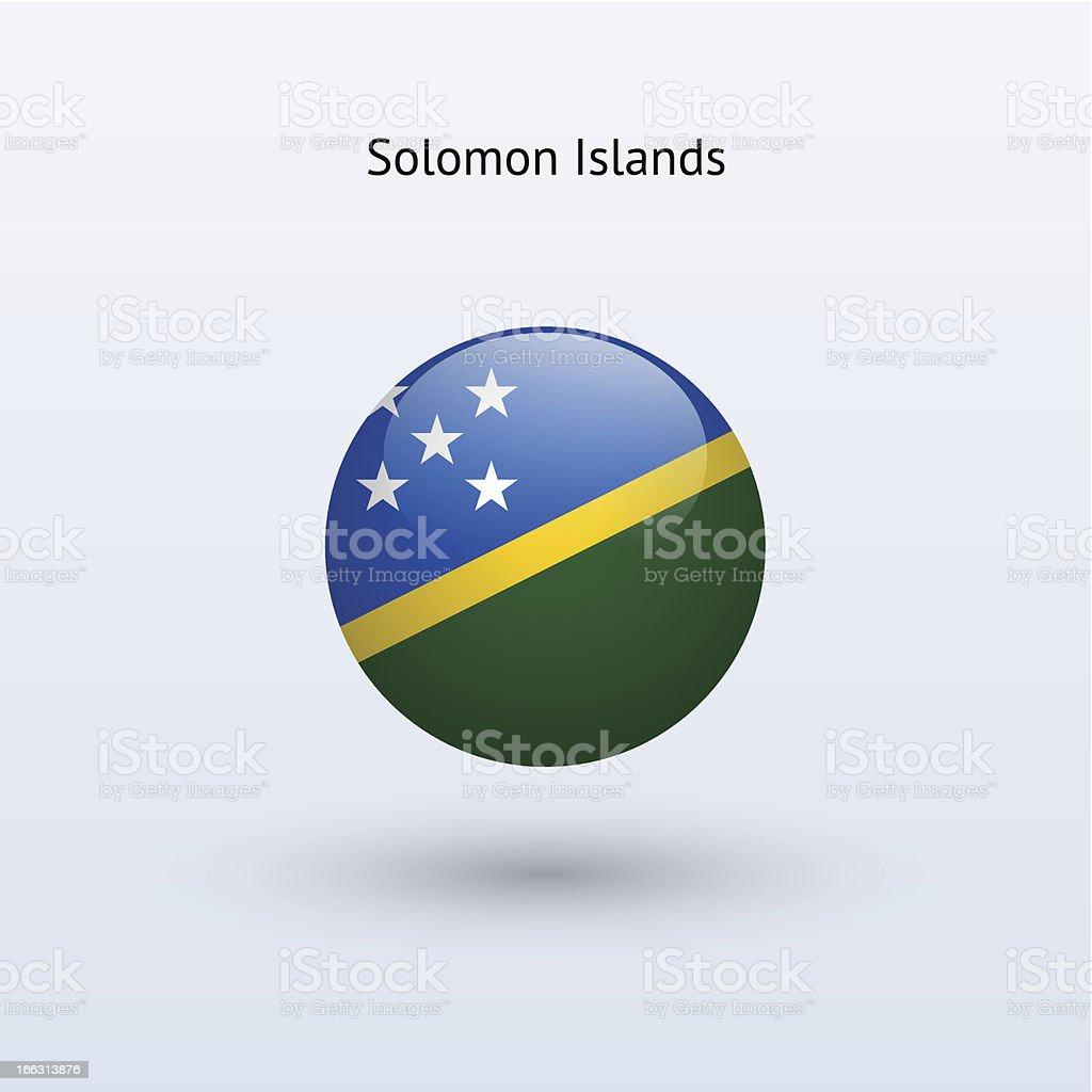 Round flag of Solomon Islands royalty-free stock vector art
