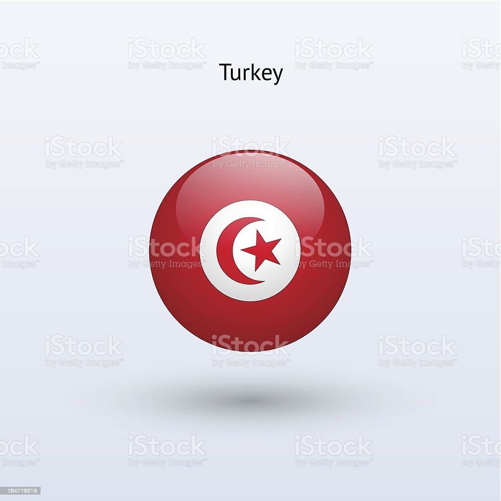 Round flag of Turkey royalty-free round flag of turkey stock vector art & more images of circle