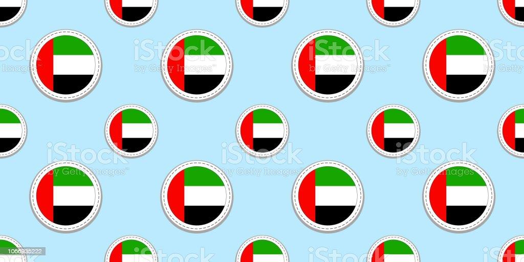 Uae Round Flag Seamless Pattern The United Arab Emirates Background
