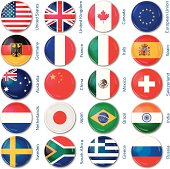 round flags popular countries