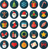 Christmas and New Year's icons:
