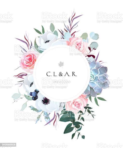 Round floral label frame arranged from leaves and flowers vector id949966808?b=1&k=6&m=949966808&s=612x612&h=nbr e1 c1kq hs cvlrpjpggmpcjosn8m 8u 63byv8=