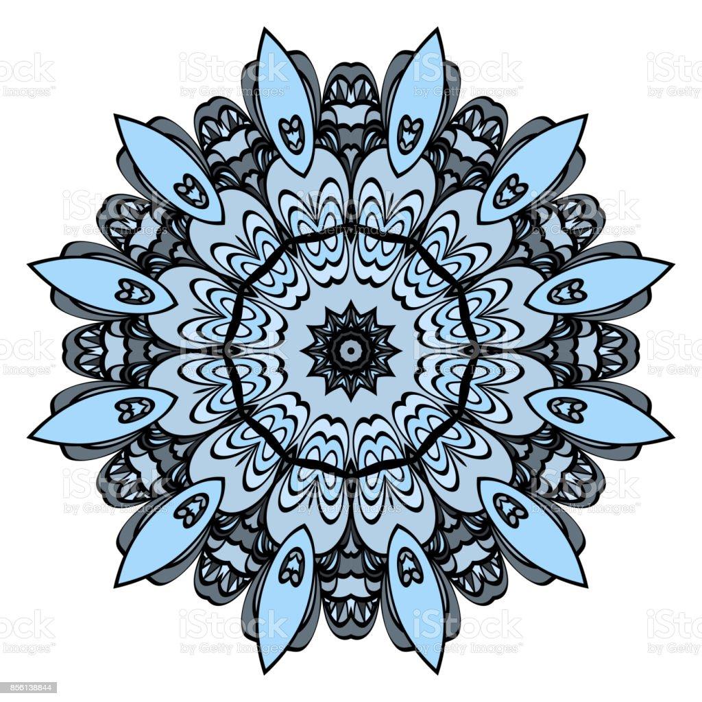 Ilustración De Patrón Floral Redondo Mandala Para Colorear