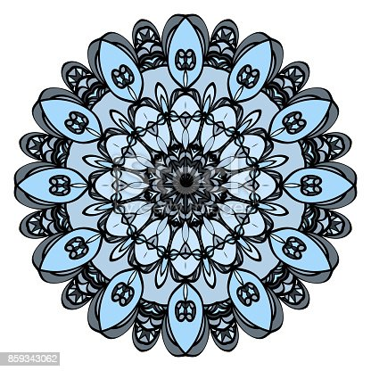 Istock Patrón Floral Redondo Mandala Para Colorear Decorativo Para
