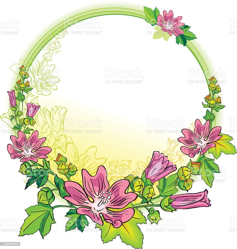Round Flower Frame Stock Illustration - Download Image Now ...